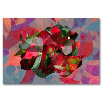 Αφίσα (αφηρημένο, πολύχρωμο, σχήματα, γραμμές, χρώματα, φύλλα)